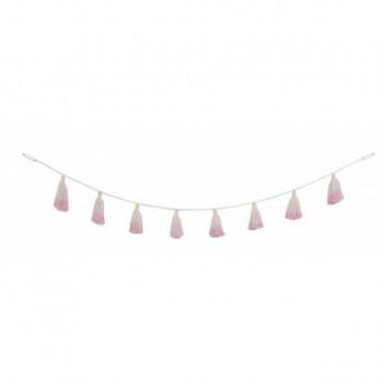 Pom Pom Garland Tie-Dye Pink