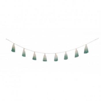 Pom Pom Garland Tie-Dye Green
