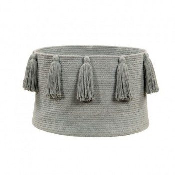 Basket Tassels Light Grey