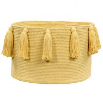 Basket Tassels Yellow