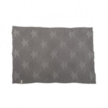 Blanket Hippy Stars Pearl Grey