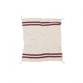Blanket Stripes Natural/Burgundy