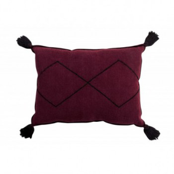 Cushion Bereber Burgundy