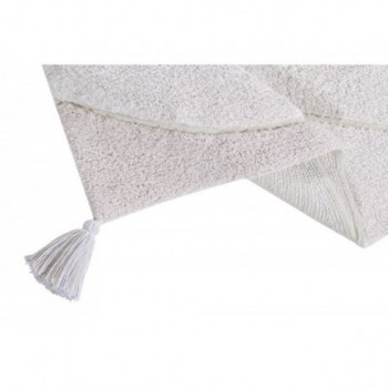 Knitted Baby Blanket Air Dune White