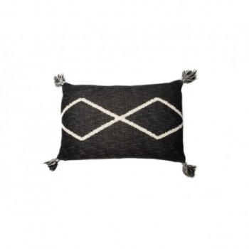 Knitted cushion Oasis Black