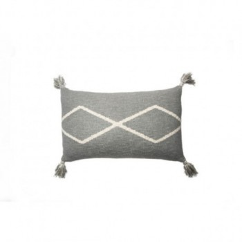 Knitted cushion Oasis Grey
