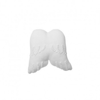 Knitted Cushion Angel Wings