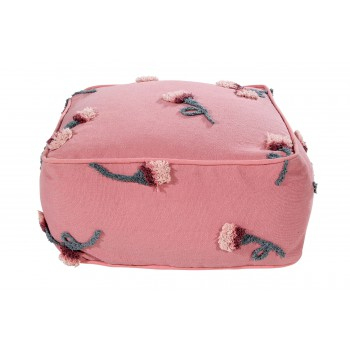 Pouf English Garden Ash Rose