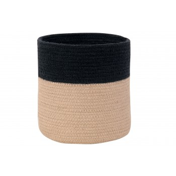 Basket Dual Black Linen