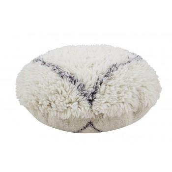 Wełniany dywan do prania w pralce pufa Berber Soul od Lorena Canals