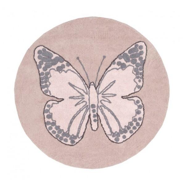 Lorena Canals Dywan bawełniany Butterfly Nude ø 160 cm w